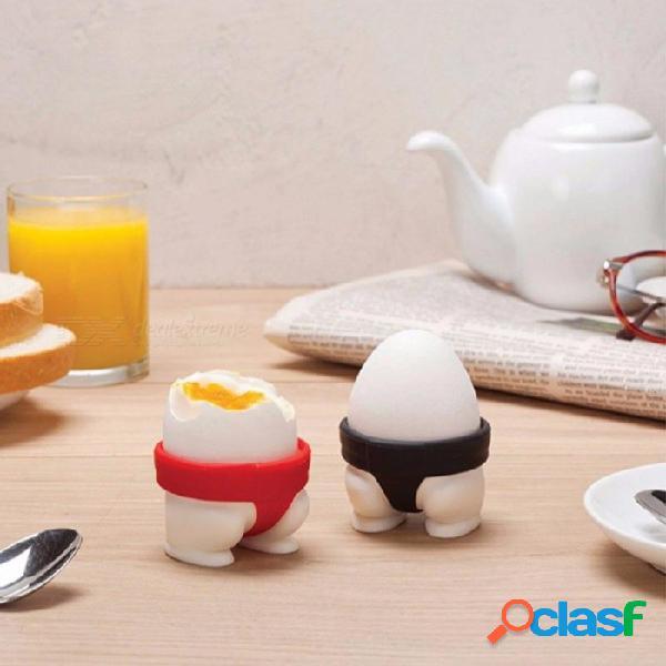 2 unids / set reative sumo titular de la bandeja del huevo sorpresa cocinero juguete sorpresa huevos de silicona molde cocinar prácticos gadgets de cocina multi