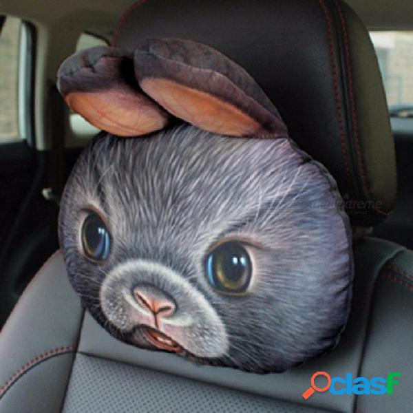 3d car styling coche reposacabezas almohada cabeza reposacabezas reposacabezas asiento de respaldo encantador perro gato animal huskies regalo presente gris