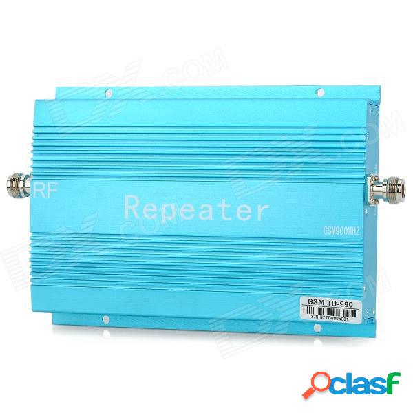 Aleación de aluminio 890 ~ 915 mhz / 935 ~ 960 mhz amplificador de refuerzo del repetidor de señal del teléfono móvil gsm - azul (70db)