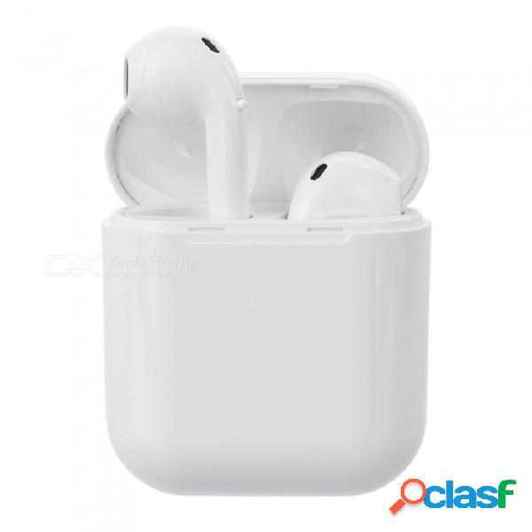 Auriculares bluetooth portátiles mini deportivos ifans, auriculares inalámbricos con auriculares estéreo 4.2 en la oreja con caja de carga - blanco