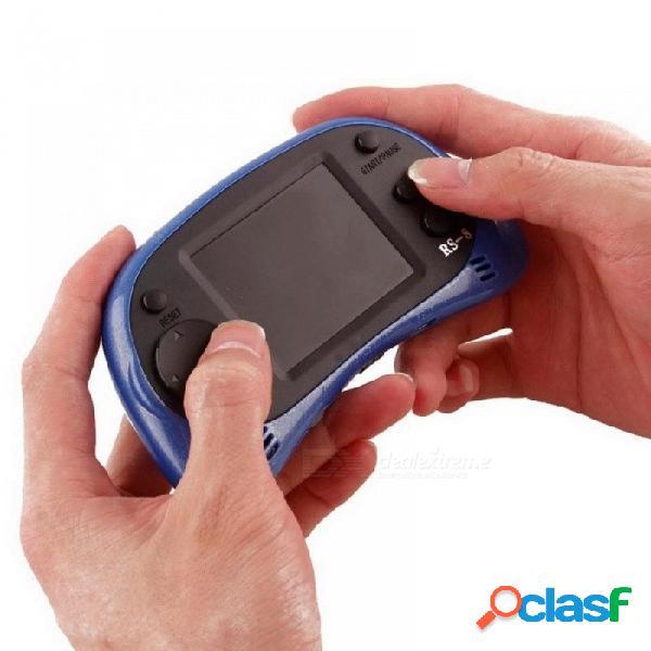 Consola de videojuegos portátil con pantalla tft de 2,5 pulgadas reproductor de juegos de 8 bits incorporado 260 juegos clásicos con cable av compatible con tv azul
