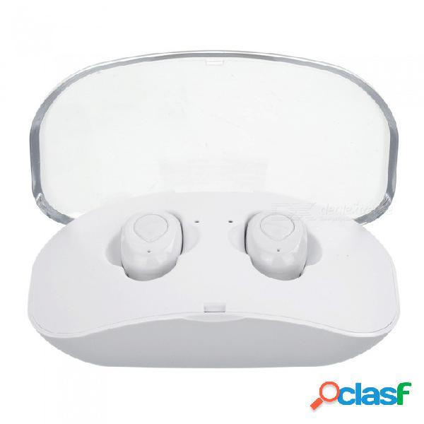 X18 tws mini auriculares bluetooth auriculares inalámbricos 3d estéreo reducción de ruido manos libres