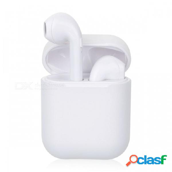 X8 tws mini auriculares bluetooth inalámbricos auriculares estéreo para auriculares auriculares con caja de carga - blanco