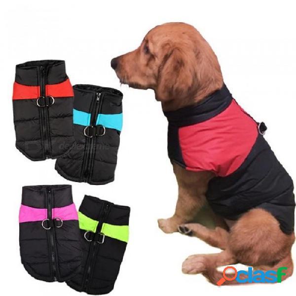 8 tamaño s-5xl ropa de invierno para perros a prueba de agua cálido chaleco perro grande gato cachorro perro esquís abrigos chaquetas verde / rojo / azul / rosa s / verde