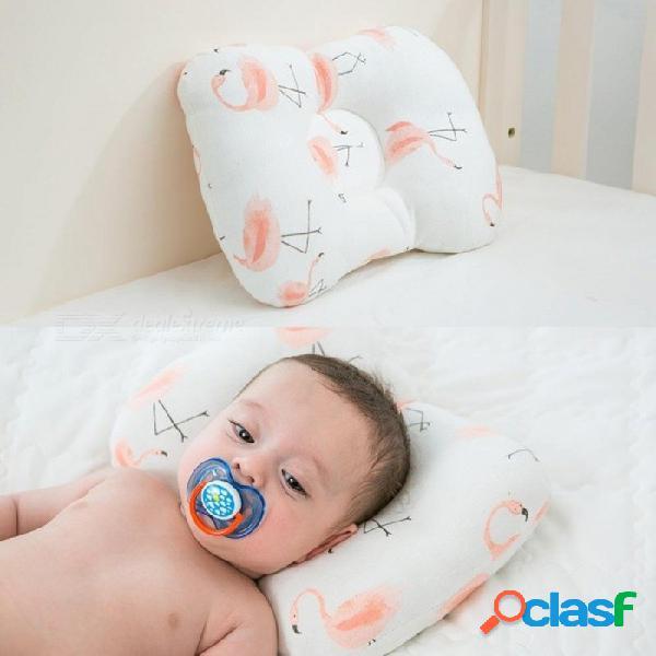 Almohada para bebé recién nacido protección para la cabeza cojín ropa de cama para bebés lactante almohada niño dormir posicionador anti rollo