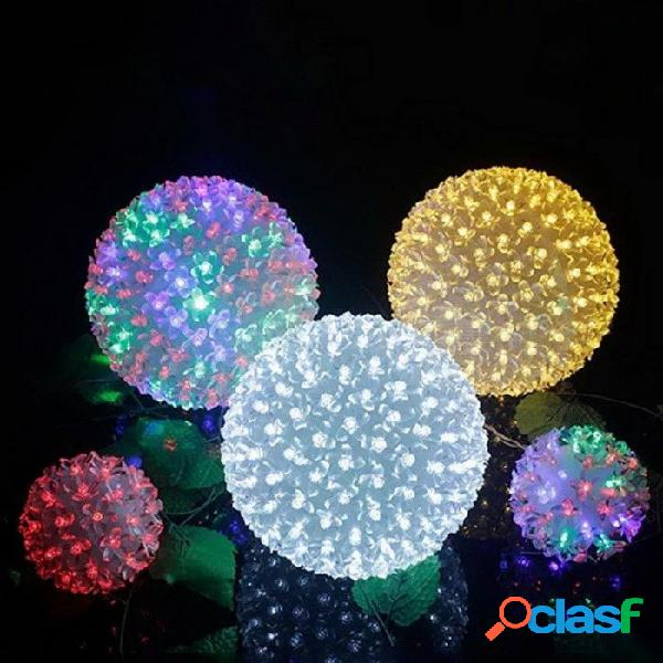 Dia 16cm 100 led flor de cerezo bola lámpara ac 220v vacaciones de navidad fiesta de bodas luces de cadena enchufe de ee.uu. rgb / 0-5w