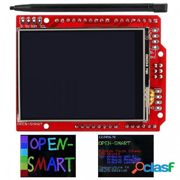 Módulo de pantalla táctil tft lcd de 2,4 pulgadas con pantalla táctil ili9325 ic sensor de temperatura integrado + pluma para arduino uno r3 / mega 2560 r3