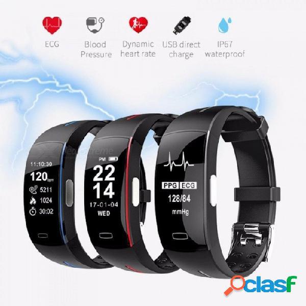 Pulsera inteligente p3 con presión arterial monitor de ritmo cardíaco rastreador de actividad gps reloj inteligente ip67 a prueba de agua