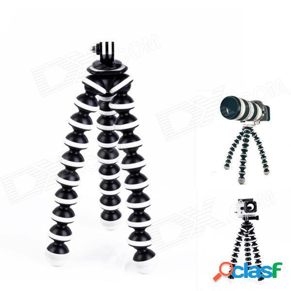 Soporte para trípode pulpo multifunción 2 en 1 para cámara digital / gopro hero 4/2/3/3 + - negro + blanco