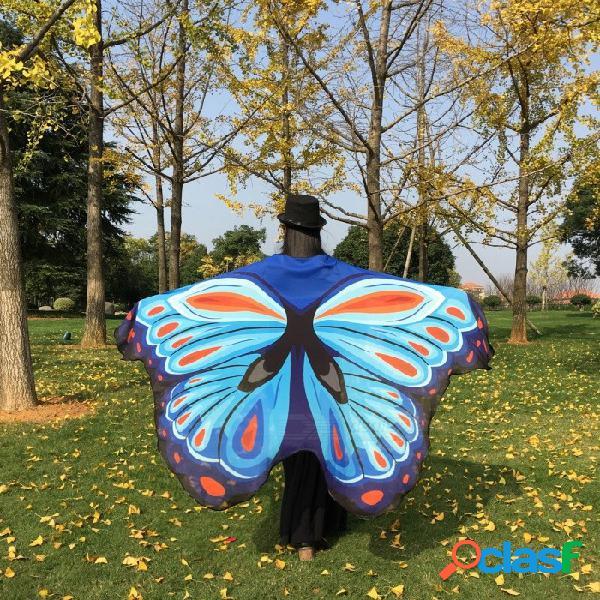 Tela suave alas de mariposa estilo mantón de la gasa de hadas de las señoras ninfa traje de duendecillo accesorio