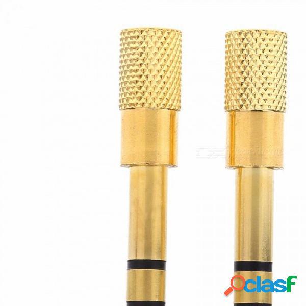 6.35mm macho a 3.5mm hembra adaptador 3.5 enchufe a 6.35 jack estéreo convertidores de adaptador de audio para el teléfono móvil pc gold