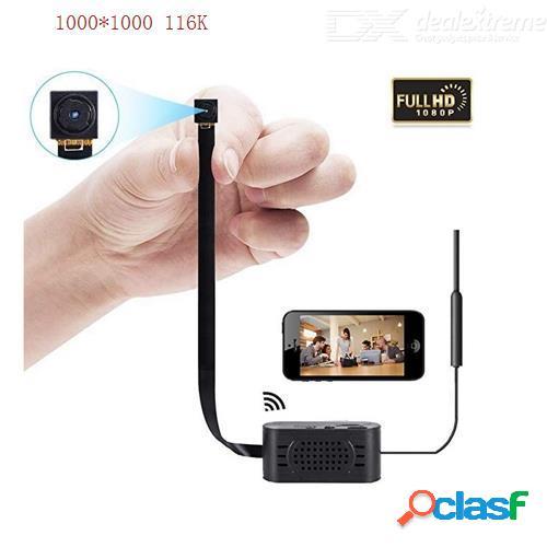 Cámara oculta wifi enklov, cámara espía mini cámara inalámbrica sikvio hd 1080p con alarma de detección de movimiento remota