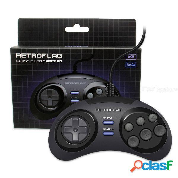 Consola de juegos con conexión por cable megapi original y controlador usb clásico para frambuesa pi 3 b plus / 3b / 2b