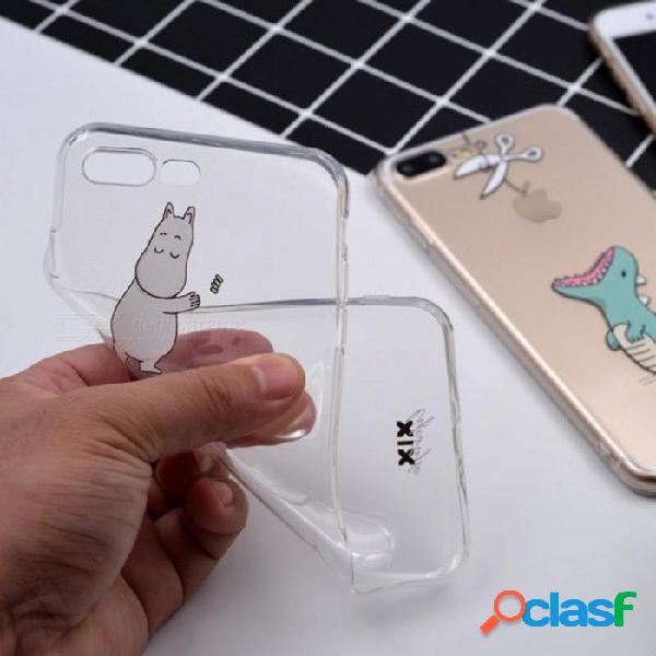 Iphone 6 carcasa 5 5s 5c 6s 7 plus x dinosaurio lindo tpu suave para funda iphone 7 funda original para coque iphone 8 funda para iphone x / 01