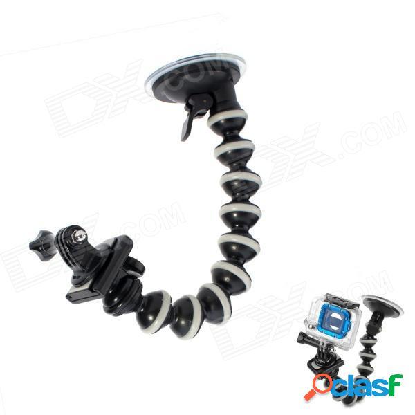 Soporte de montaje para copa de succión monopod octopus para gopro hero 4/3/2 / sj4000 - negro + gris