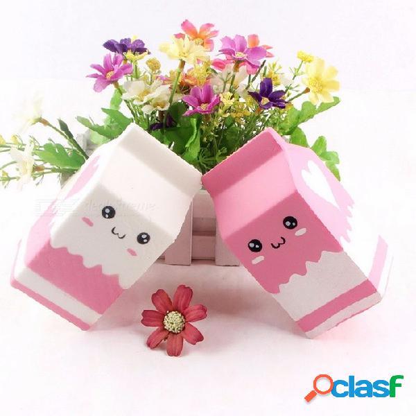 Squishy leche caja encantos lento aumento alivia el estrés ansiedad juguete divertido regalo de los niños