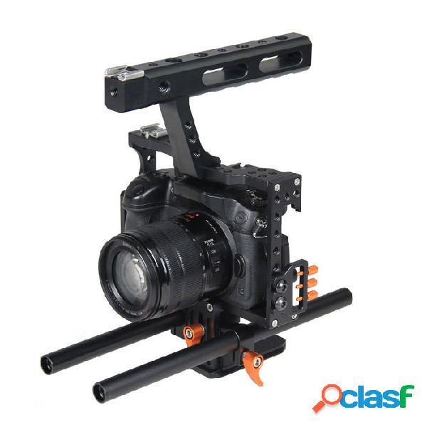 Yelangu cámara de vídeo jaula de la creación de películas de cine de 15 mm con varilla kit.a7 plataforma