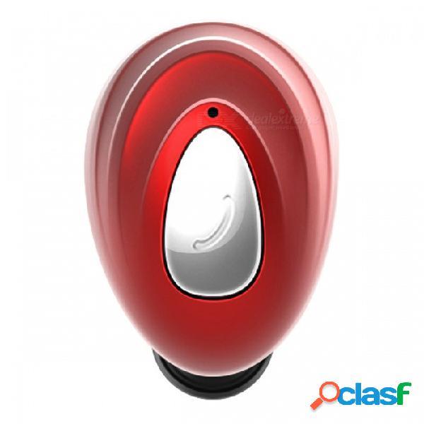 Zhaoyao inalámbrico bluetooth v4.1 s530 auriculares estéreo, mini deporte invisible en los auriculares - rojo