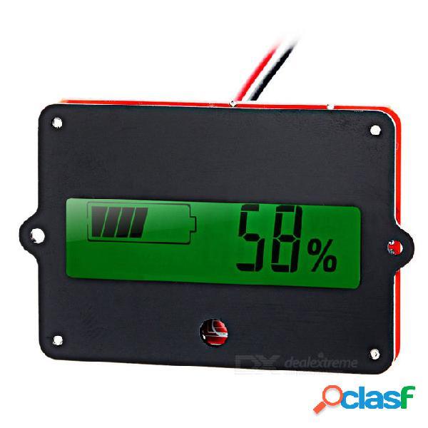 """Batería de litio / módulo de visualización de la capacidad residual de la batería de plomo con pantalla de 1.7 """" - rojo + negro"""