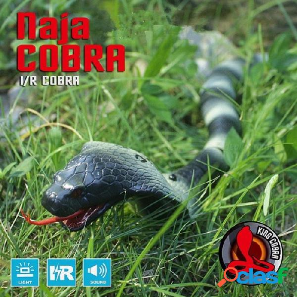 Control remoto infrarrojo rc serpiente juguete cobra gracioso gadgets bromas simulación animal broma