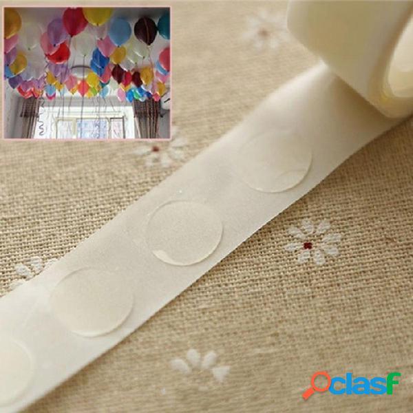 Globos accesorios globos pegamento boda cumpleaños decoración globos pegatinas accesorios fiesta accesorios extraíbles 100pcs 100pcs