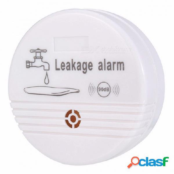 Alta calidad casa 90db alarma de fuga de agua abs detector de fugas de agua inalámbrico sensor de agua alarma batería de alarma de fuga (no incluido)