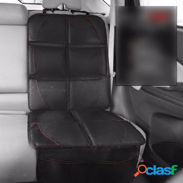 Cubierta de asiento de coche antideslizante antideslizante asiento de seguridad para niños asiento auto almohadilla a prueba de abrasión protector de asiento de coche negro