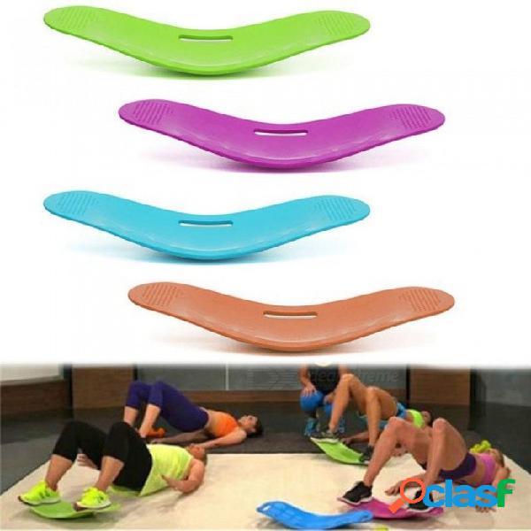 Giro de la tabla de equilibrio de la aptitud simple entrenamiento de la base para los músculos abdominales y las piernas equilibrio de la tabla de yoga de la aptitud verde
