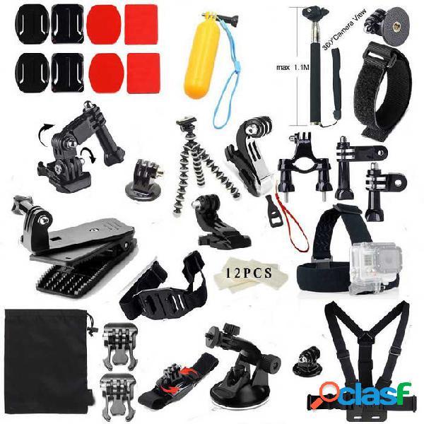 Pro 48 en 1 caliente accesorios de cámara de deportes al aire libre kit para gopro hero 4 / 3+ / 3/2 / sjcam / xiaoyi