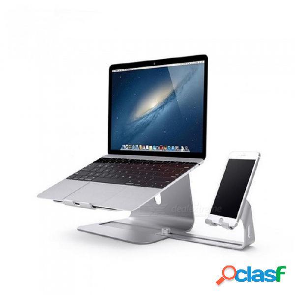 Soportes portátiles para portátiles zizek soportes de escritorio de aleación de aluminio y soporte para teléfono móvil disipación de calor de la computadora aptos para macbook para pc macbook