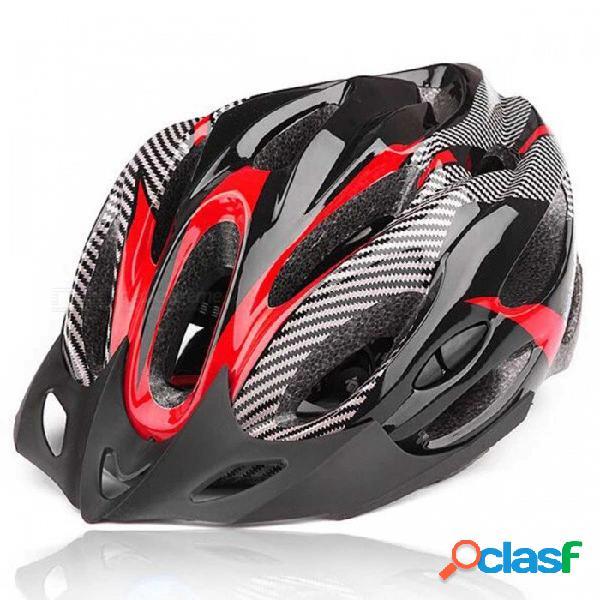Bicicleta de ciclismo de deportes al aire libre casco de bicicleta con conductos de ventilación - rojo + negro