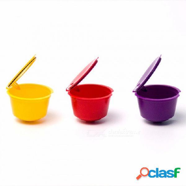 Filtros de café reutilizables cápsula de plástico compatible recargable dolce gusto cestas de filtro de café cápsulas