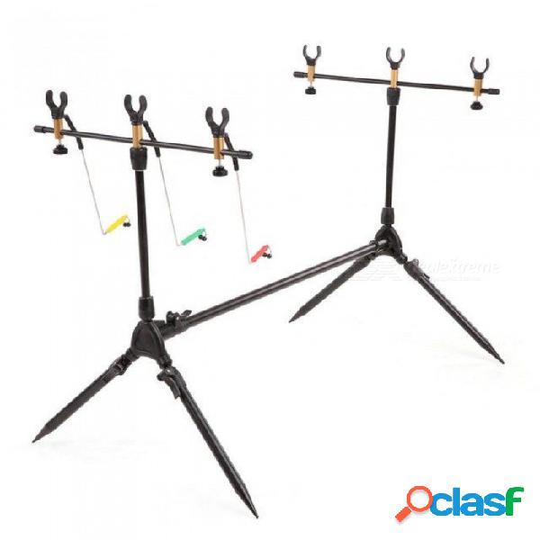 Soporte de caña de pescar ajustable barra retráctil de la carpa soporte poste de soporte caña de pescar soporte carpa aparejos de pesca para la pesca de chocolate
