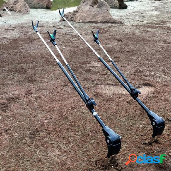 Soporte de caña de pescar de acero de alta resistencia, soporte para caña de pescar, caña de mar, aparejos de pesca, caña de pescar de soporte