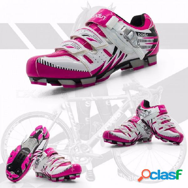 Boodun / bodun bicicleta de montaña bicicleta de montaña de doble uso zapatos de la cerradura zapatos de la bicicleta zapatos de las mujeres de las mujeres transpirable montar rosa / 4