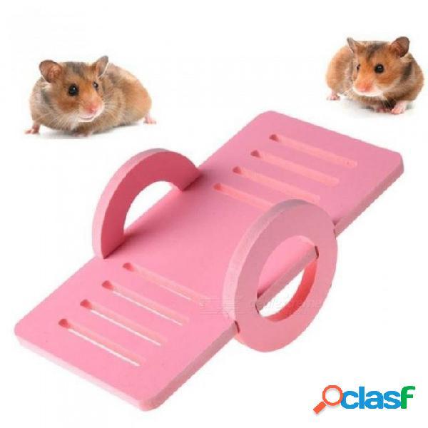 Casa de madera jaula de pájaros nido balancín casa de juguete ejercicio mascota rata hámster ratón pájaro jugar juguete seguro para animales pequeños