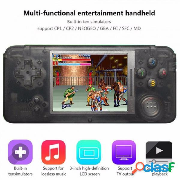 Mini portátil de 3 pulgadas con reproductor de juegos retro integrado con 1151 juegos compatibles con cp1 cp2 ne2ge gba fc videojuego de formato md negro
