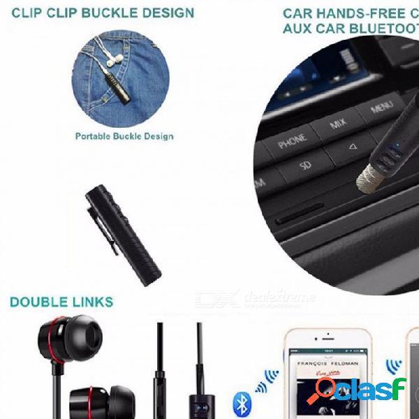Mini receptor bluetooth v4.2, adaptador de audio inalámbrico para manos libres para automóvil, negro / bluetooth v4.2