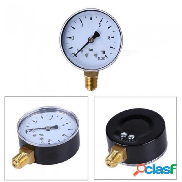 "1/4"" npt montaje lateral 2.3"" cara compresor de 10 bares manómetro de presión de aceite de agua comprimida> instrumentos de medición de presión redondos"
