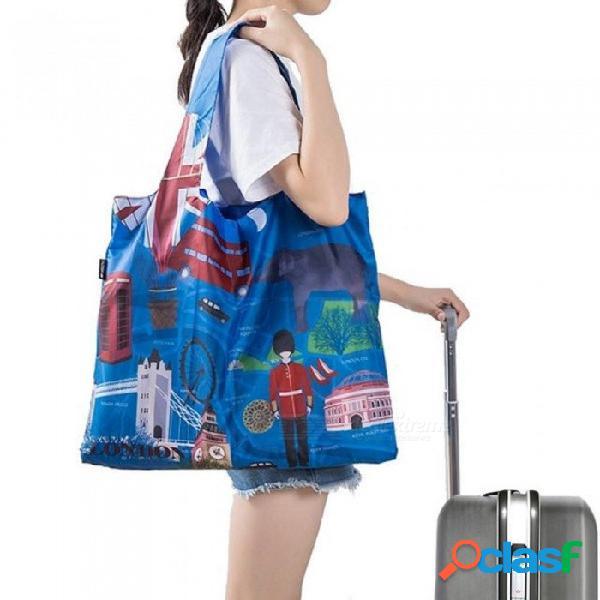 Bolsas de compras ecológicas bolsas a prueba de agua bolso reutilizable personalizado mujeres hombro bolsa de tela bolsa de abarrotes plegable foto organizador a granel