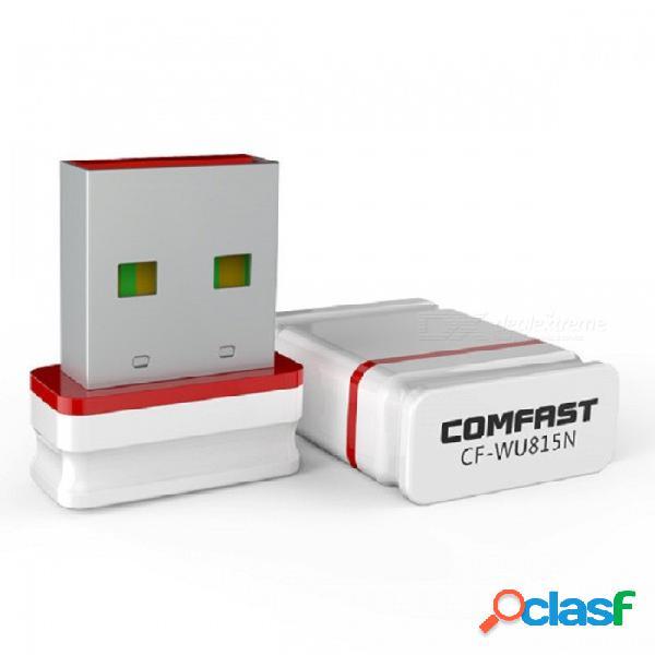 Comfast cf-wu815n 150 mbps mini adaptador inalámbrico usb receptor wi-fi, compatible con el controlador gratuito de instalación automática
