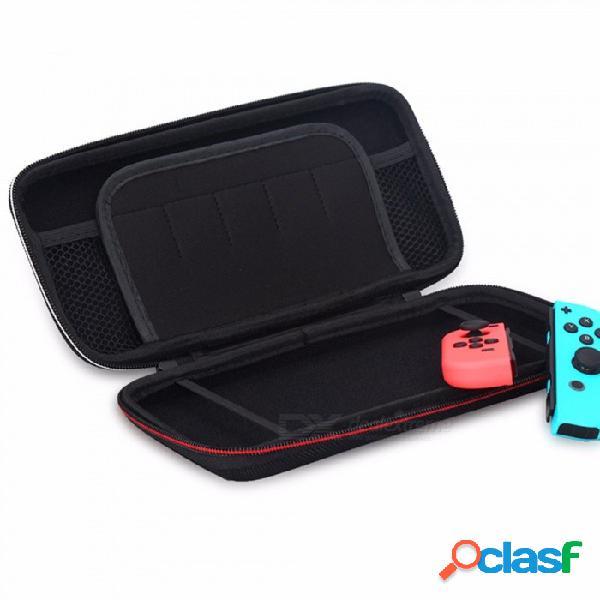 Estuche rígido protector, estuche portátil de viaje para la consola de almacenamiento de la consola de juegos de viaje para la consola del interruptor de nintendo negro