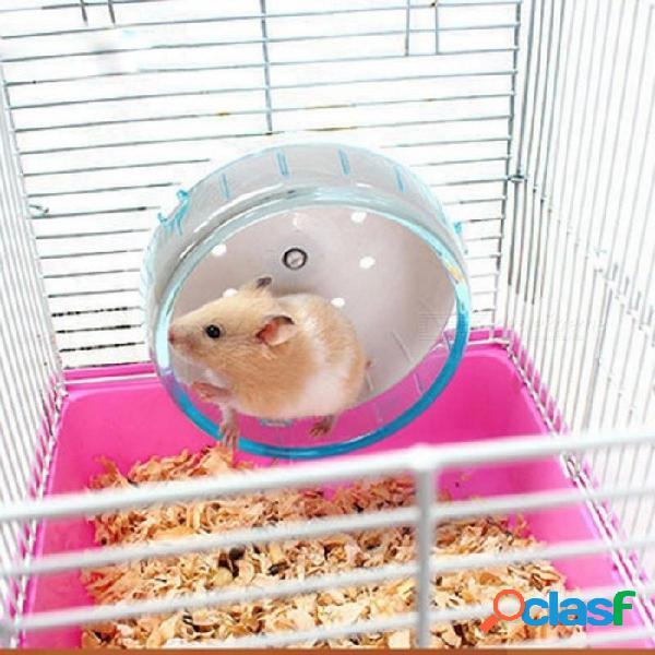 Mascotas pequeñas conejillo de indias rueda de hámster corriendo deportes rueda redonda accesorios de jaula de hámster rueda de ejercicio de jerbo para animales juguete de mascota 12 x 8 cm