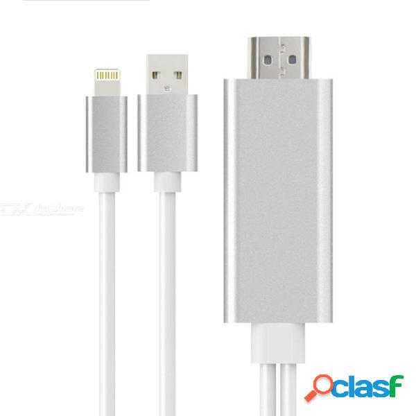 Onten 8 pin a hdmi cable av adaptador de av digital de 1080p lightning para iphone / ipad / ipod (2m)