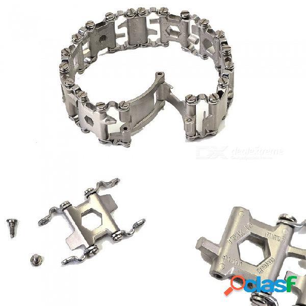 Zhaoyao viaje amigable multiherramienta portátil, versátil pulsera de pulsera de acero tipo destornillador herramienta