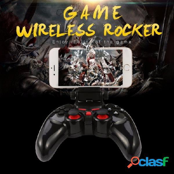 Nuevo ti-465 controlador de juegos inalámbrico para android bluetooth dobe joystick controlador de juegos para android ios pc con soporte para teléfono celular negro