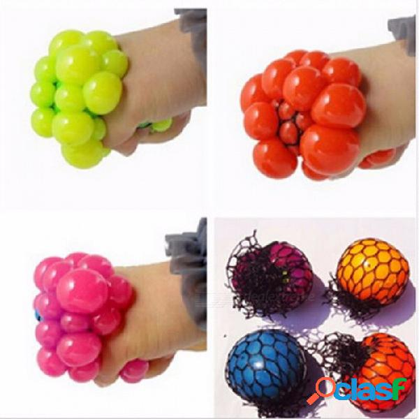 Pelota de uva anti-estresante pequeña y linda para el estrés, autismo, alivio para apretar, juguete saludable para niños, adultos