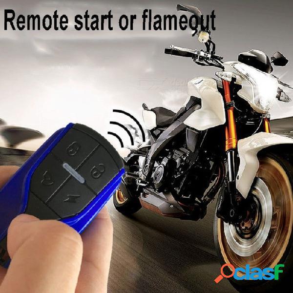Sistema de alarma universal para motocicleta, sistema de seguridad antirrobo scooter moto con control remoto rojo + azul
