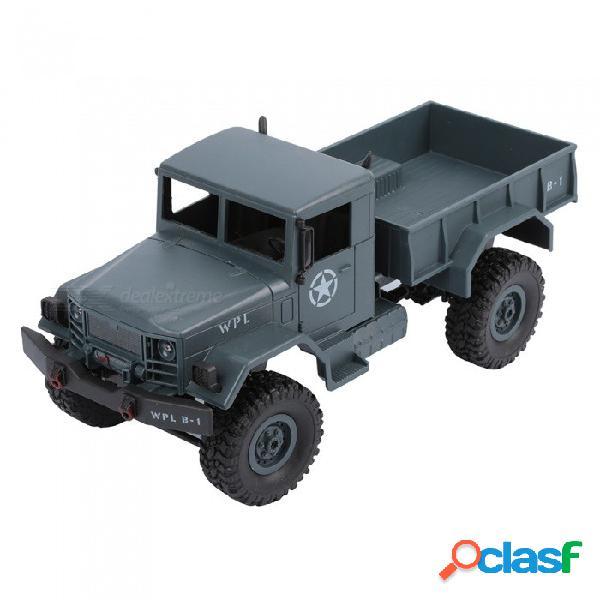 Wplb-14 2.4ghz 4-ch 1:16 4wd función completa de control remoto camión militar rc coche - ejército verde