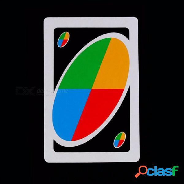 108pcs tarjetas de juego, divertido juego de mesa de entretenimiento diversión tarjetas de juego de póquer rompecabezas para familia y niños blanco + azul + rojo